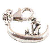 Gondola 3D Sterling Silver Clip On Charm - With Clasp